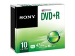 CD/DVD SONY Sony 10DPR47SS - DVD+R x 10 - 4.7 Go - support de stockage