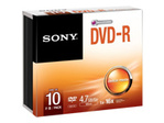 CD/DVD SONY Sony 10DMR47SS - DVD-R x 10 - 4.7 Go - support de stockage