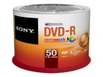 CD/DVD SONY Sony 50DMR47PP - DVD-R x 50 - 4.7 Go - support de stockage