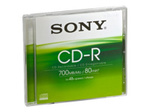 CD/DVD SONY Sony CDQ80SJ - CD-R x 1 - 700 Mo - support de stockage