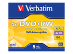CD/DVD VERBATIM Verbatim DataLifePlus - DVD+RW x 5 - 4.7 Go - support de stockage
