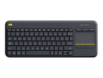 Clavier LOGITECH Logitech Wireless Touch Keyboard K400 Plus - clavier - français - noir