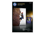 Papier standard HP HP Advanced Glossy Photo Paper - papier photo - 25 feuille(s) - 100 x 150 mm - 250 g/m²