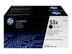 HP LASERJET Q7553X DUAL PACK BLACK PRINT CARTRIDGES