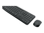 MK235 Wireless KBD+Mouse Grey US INTL