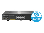 Switch gigabit HEWLETT PACKARD ENTERPRISE HPE Aruba 2930F 8G PoE+ 2SFP+ - commutateur - 8 ports - Géré - Montable sur rack