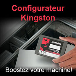 Configurateur Kingston menu